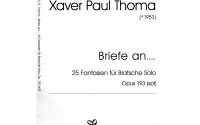 Xaver Paul Thoma: Briefe an…